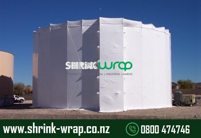 """""""Shrink-wrap services"""" we mean total encapsulation of a structure undergoing renovation. We do this by wrapping the structure with a heavy-duty plastic film, then heat-shrinking the film to form a tight skin over the structure. This film forms a strong barrier between the interior of the structure and its outside environment. http://www.shrink-wrap.co.nz/services/construction_renovation"""