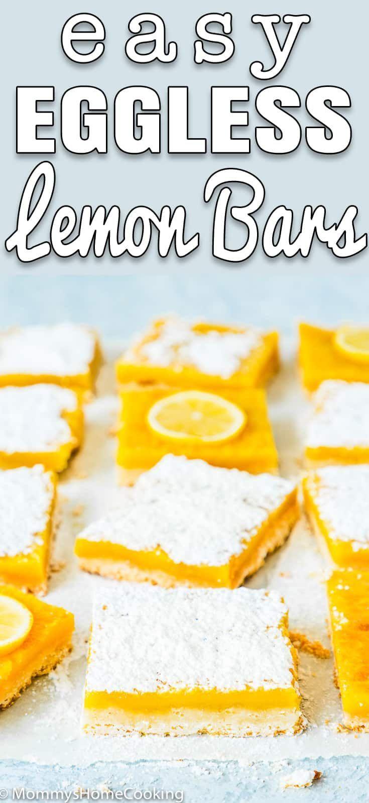 Easy Eggless Lemon Bars Recipe In 2020 Lemon Bars Recipe Eggless Lemon Bars Lemon Dessert Recipes