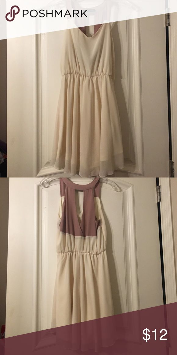 ✨Cream & Nude Dress✨ Cute love culture Cream and nude dress, great to wear to a wedding or an afternoon tea. Worn twice  ❗️NO TRADES ❗️POSHMARK TRANSACTIONS ONLY  ❗️PRICES ARE NEGOTIABLE Love Culture Dresses