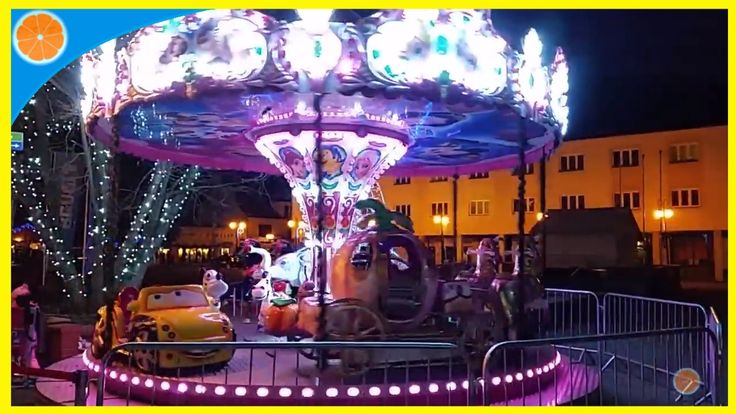 Outdoor activities Carousel, Carnival FunFair rides, Amusement park, Blu...