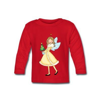 Suave camiseta de manga larga para bebés con botones en el cuello, 100 % algodón. Ideal para esta fechas con el Hada de la Navidad   #mycshopspreadhirt #mycshop #tshirtbaby #camisetabebe #pinkshirt #fasionbaby #christmas #navidad #amoroso #adorable #amor #love #lovable #hadanavidad  #loving #hada #fairy