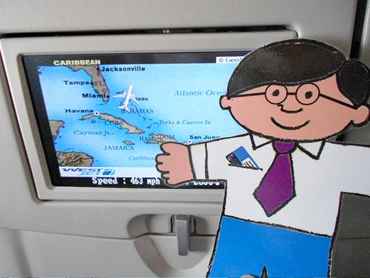 Flat Stanley - St. Thomas Public Library's Character-in-Residence: 2013 Bahamas Adventure, Journey Home