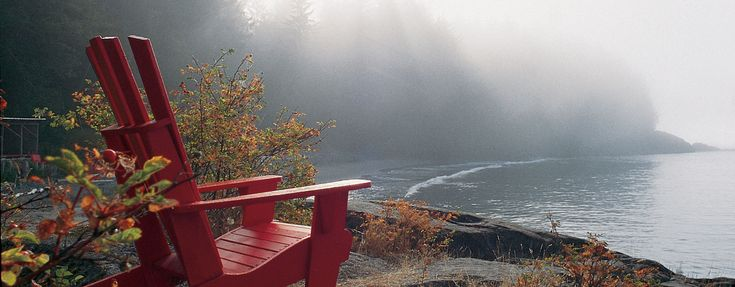 Point no point, Vancouver Island Relax while you stare at the ocean and wait for the fog to lift