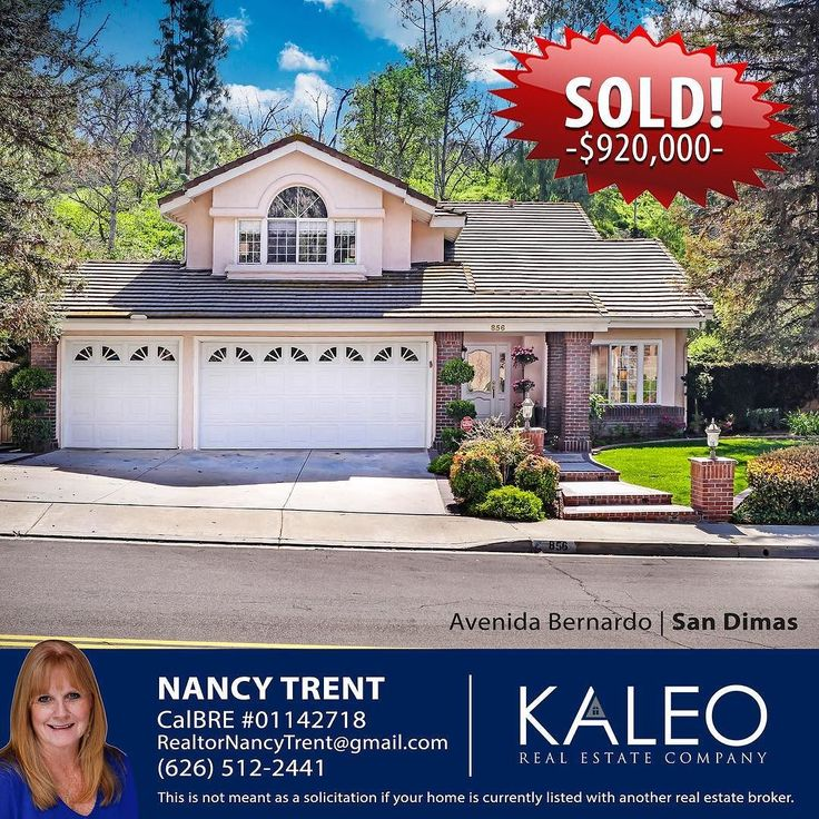 SOLD! Congrats Nancy Trent on selling this beautiful home in San Dimas! Call Nancy if you're looking to buy or sell! (626) 512-2441 #kaleorealestate #sandimas #kaleoagent #sold #home #house #buy #sell #glendora #laverne #claremont
