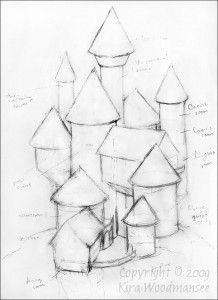 medieval castle sketch simple - Google Search