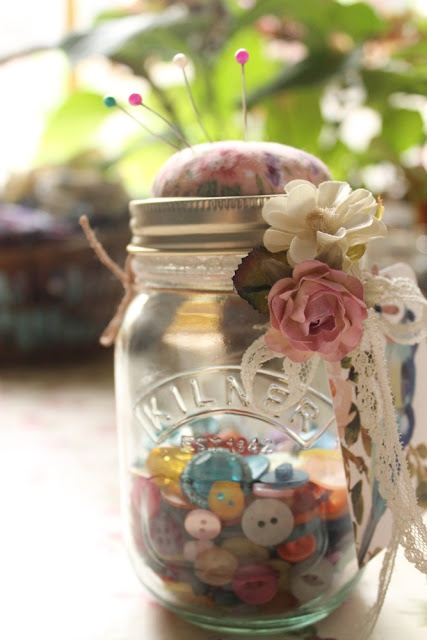 Tutorial: Kilner jar pin cushion