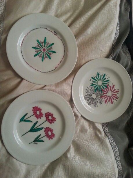Decorated Plates - dishwasher resistant