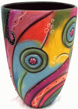 Colorful Vase - Double Creek Pottery