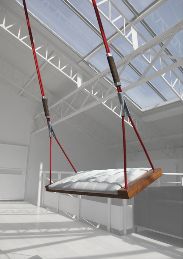 Indoor swing with vaulted ceiling