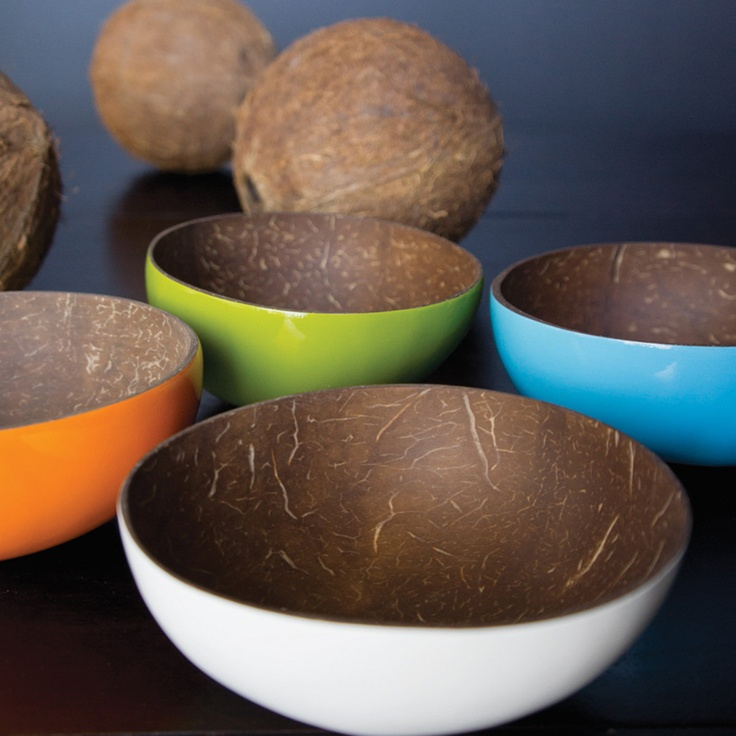 Doing a project about re-purposing coconut shells, love these!