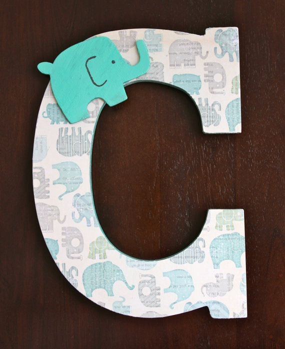 **Personalize any room!!!** Letters are CUSTOM MADE to order using a combination of paint and decoupage. Letters can be decorated with buttons,