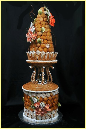This was our actual wedding cake! Croquembouche from Patisserie la Cigogne