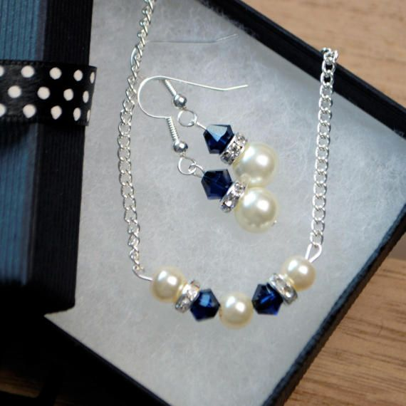 Bridesmaids jewellery gift necklace and by AccessoriesShine