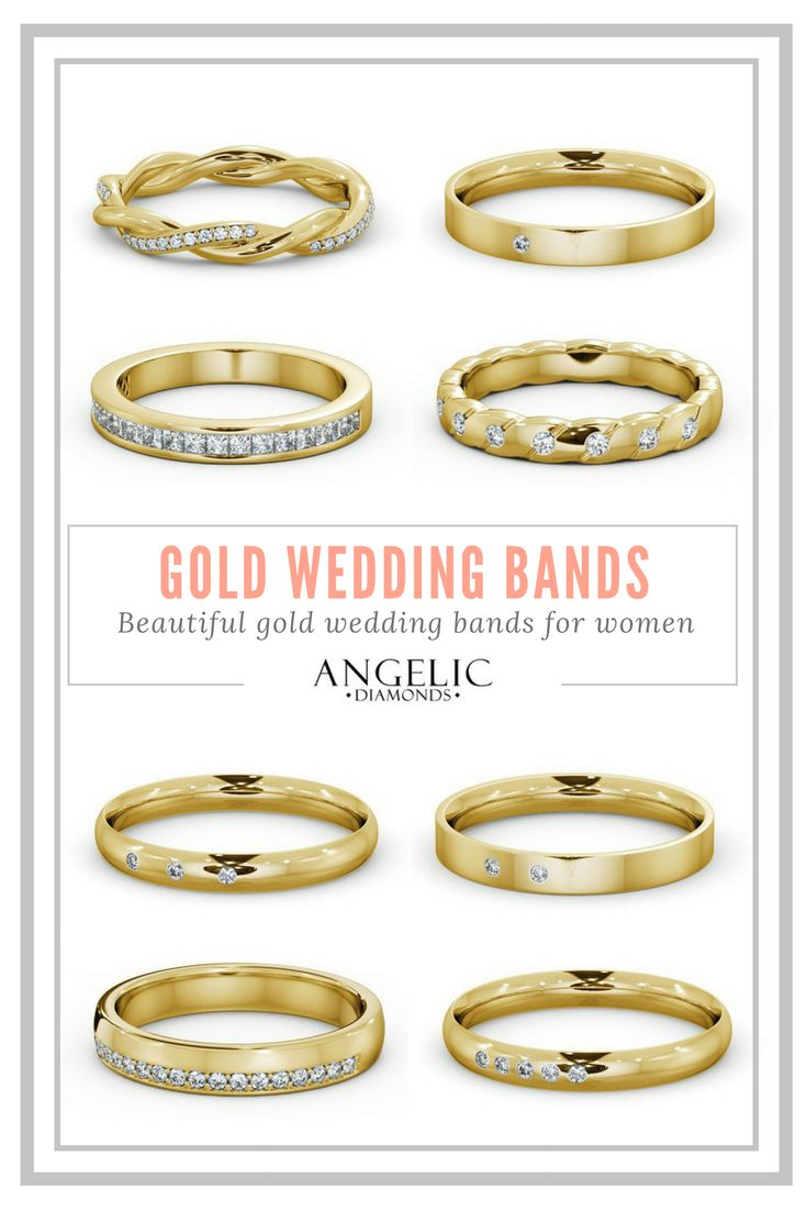 These gold wedding bands are the perfect blend of classic tradition, modern style and timeless beauty. Find your perfect gold wedding band and customise it with #AngelicDiamonds. #Wedding #WeddingBand #WeddingRing #WeddingBands #WeddingRing #Gold #YellowGold #GoldRing #GoldWeddingRing #Diamond #Diamonds #DiamondRing #DiamondWeddingRing
