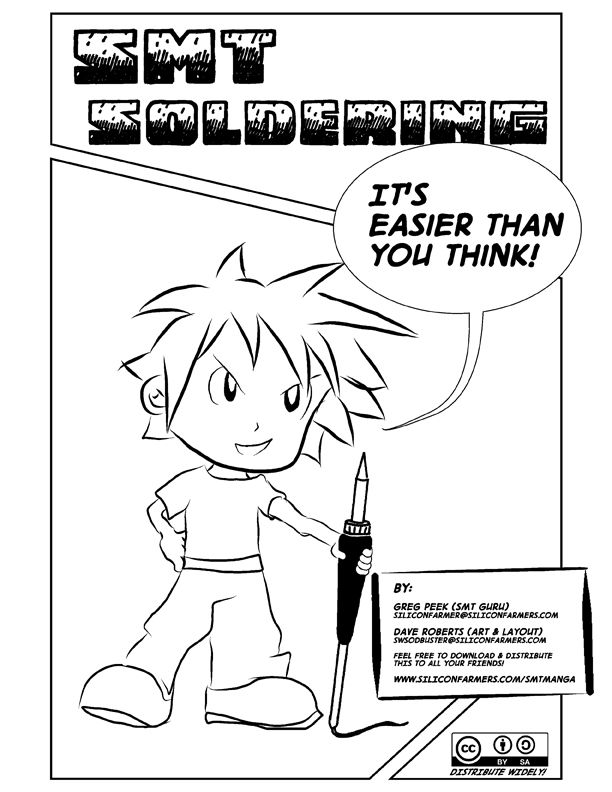 Manga Helps You Learn Surface Mount Soldering