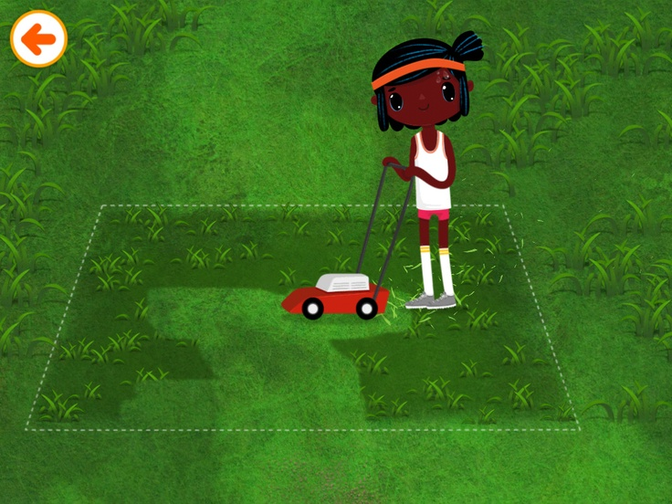 Toppy is mowing the lawn in Toca House by Toca Boca. http://itunes.apple.com/us/app/toca-house/id495680460?mt=8 #apps #kids #children #ipad #iphone #tocaboca #tocahouse