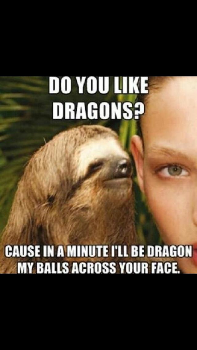 Creepy sloth dragon