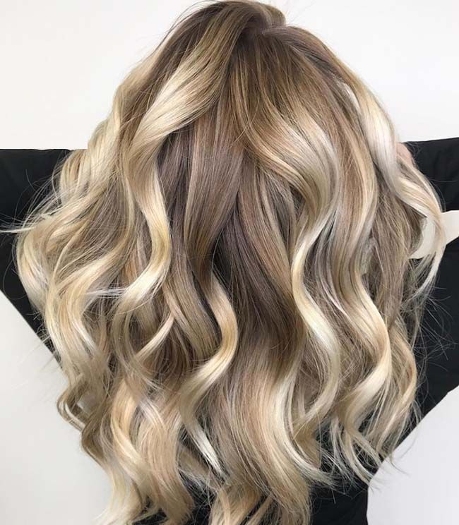Long hairstyles with warm and bright balayage highlights is really awesome for e…