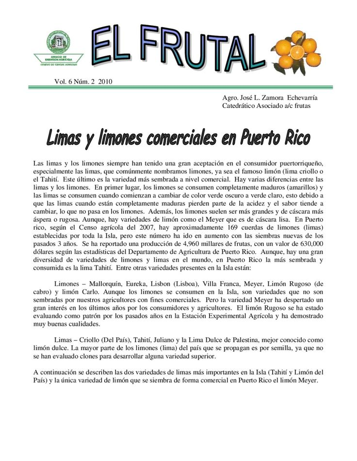 Limas y limones comerciales en Puerto Rico by Servicio de Extensión Agrícola UPR - issuu
