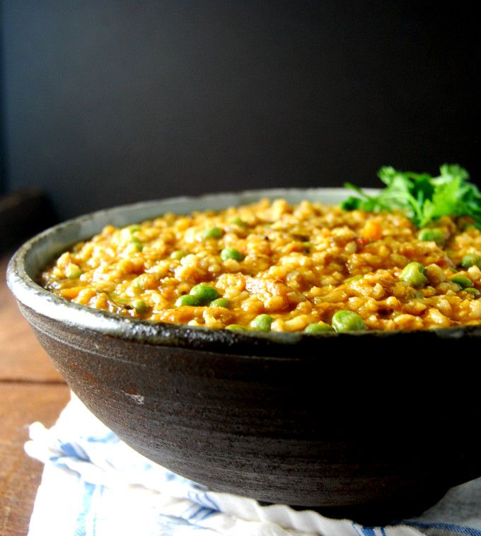A recipe for a delicious and easy Masala Khichdi, a true one-pot meal that's cooked in every Indian home.