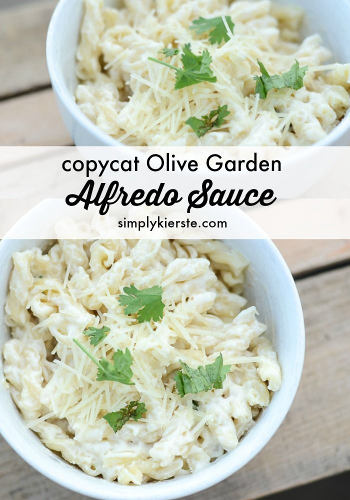 This is the one meal that ALL my kids love, every single time! It's SUCH an easy recipe--you can make it 10 minutes!  Perfect for busy nights! { Copycat Olive Garden Alfredo Sauce } | simplykierste.com