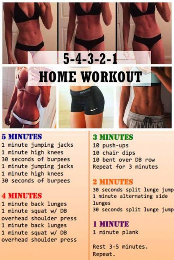 5-4-3-2-1 Home workout plan and learn Fat Burning Vegetables