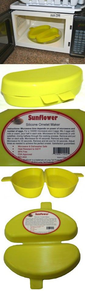 BPA-Free Microwave Omelette Maker: Sunflower Microwave Omelet Maker