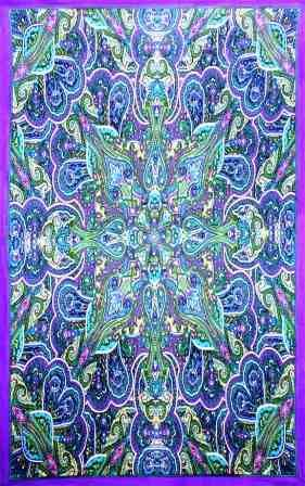 "Kaleidoscope Paisley Tapestry - $24.99  The Kaleidoscope paisley design of this tapestry is intricate and beautiful. It will make any room come to life. This large tapestry is approximately  60"" x 90"". You can use this tapestry as wall hanging in your home or office, throw it over a  couch, or as a bedspread on a twin bed. It would also look great in a dorm room. It is equipped with specially-designed loops to accommodate easy support from a wall, window frame, or ceiling."