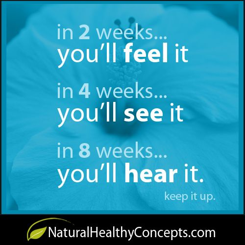 Weight Loss Motivation: 'In 2 weeks. you'll feel it. In 4 weeks, you'll see it. In 8 weeks, you'll hear it. Keep it up.'