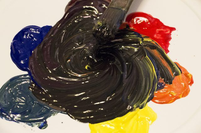 How To Make The Color Black Paint With Pictures Ehow Black Paint Color What Colors Make Black Black Acrylic Paint