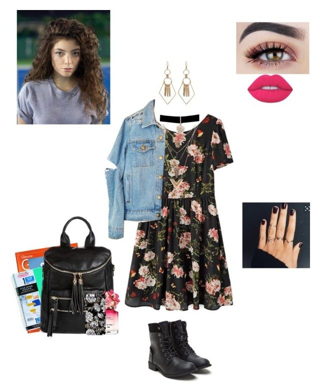 """""""Hannah Baker: 13 reasons why"""" by treasurematlock ❤ liked on Polyvore featuring Louis Vuitton, Lime Crime, CO, MMS Design Studio, Marc Jacobs and Betsey Johnson"""