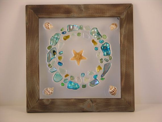 Turquoise & Greens Beach Glass Wreath