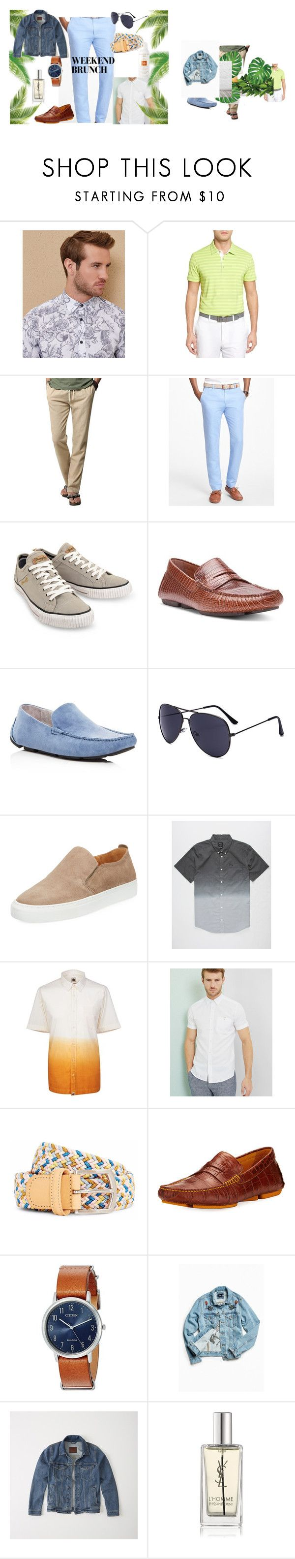 """""""ChristinaD - Bombfell"""" by birdhouse-id on Polyvore featuring Ted Baker, Bobby Jones, Brooks Brothers, Wrangler, Donald J Pliner, Kenneth Cole, Supply Lab, RVCA, Pretty Green and The Idle Man"""