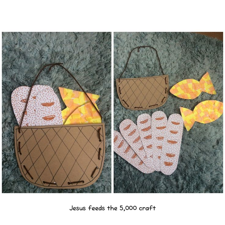 Jesus feeds the 5000 craft. Perfect for kids age 3 to 9+ practicing fine motor skills (and patience!)