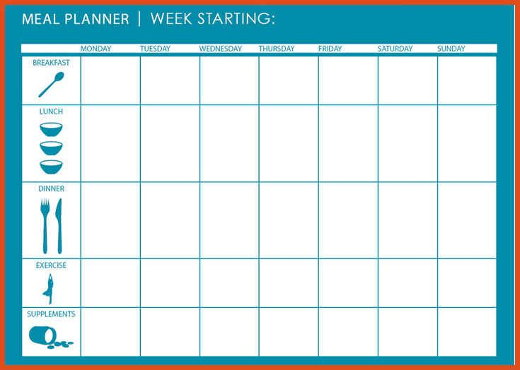 Image result for meal planning template food meal for Two week meal plan template