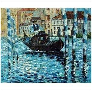 Original Oil On Canvas 'Gondolla For Hire' on eBid United Kingdom