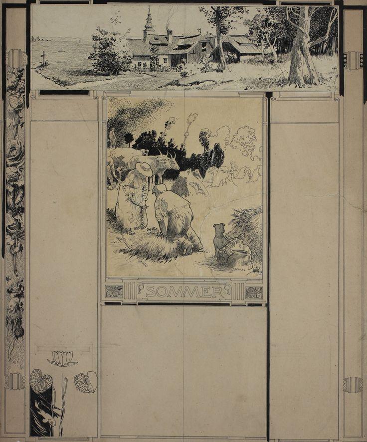 Koloman (Kolo) Moser, Buchillustration Sommer © Wien Museum