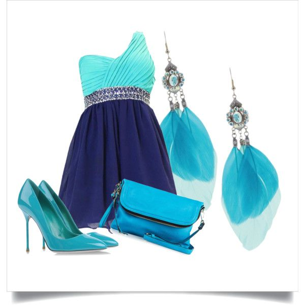 """sky blue"" by tactica on Polyvore"