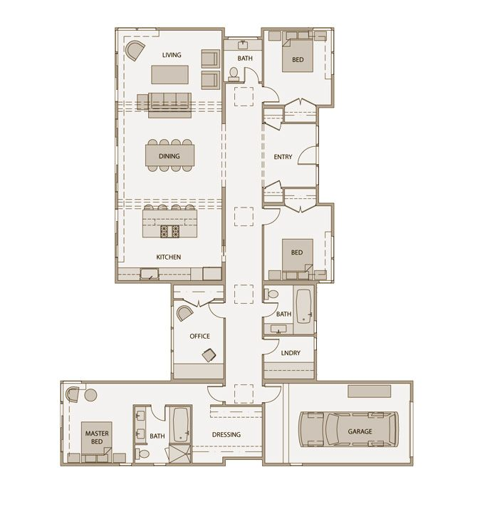 Stillwater dwellings floorplan sd152 with nearly 72 feet for 2300 square foot house plans