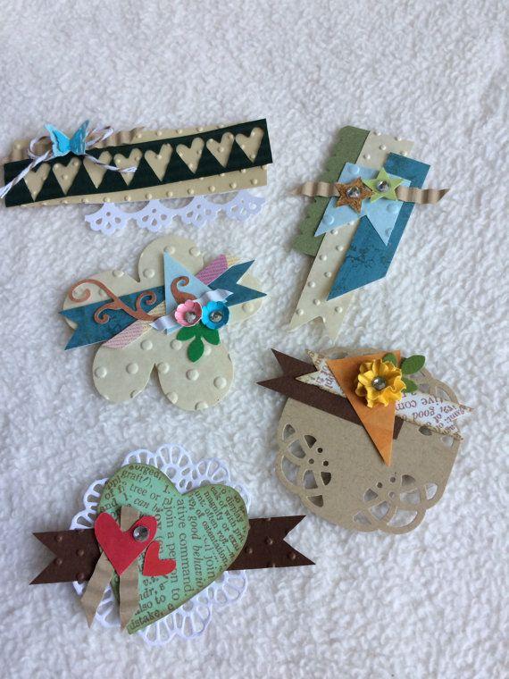 Scrapbook Embellishments...5 Piece Set of Very by JudeAlyssaMarkus