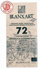Blanxart 100g. Ciocolata organica neagra 72% cacao Rep.Dominicana. BIO