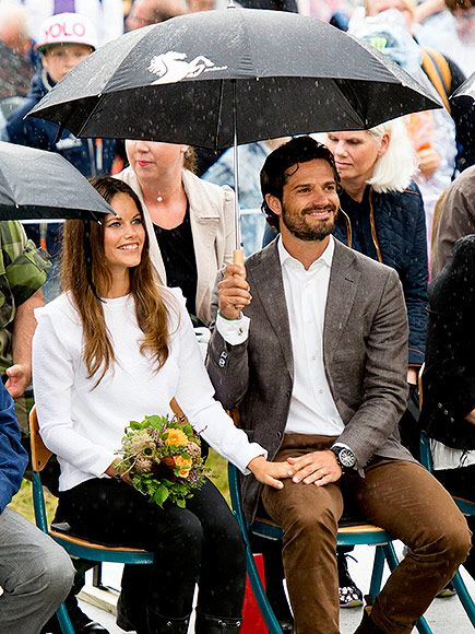 """In late August, the newlyweds embarked on their first joint royal tour to the town of Arvika to visit Byanmossarna, a nature preserve. Despite the rain, the two were all smiles, telling the Swedish newspaper Expressen that they were """"so happy to be here."""""""