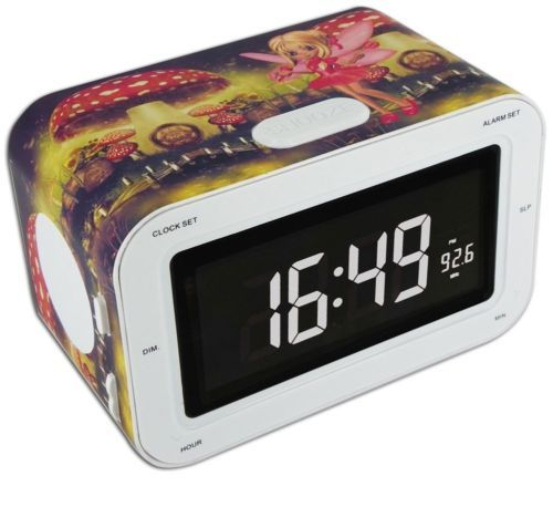 Radio-reveil-Horloge-Enfants-FM-MW-Radio-ecran-LCD-dimmable-enfants