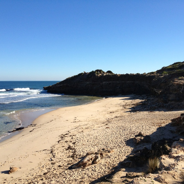 One of the quiet beaches near our holiday house, at the southern end of Mornington Peninsula