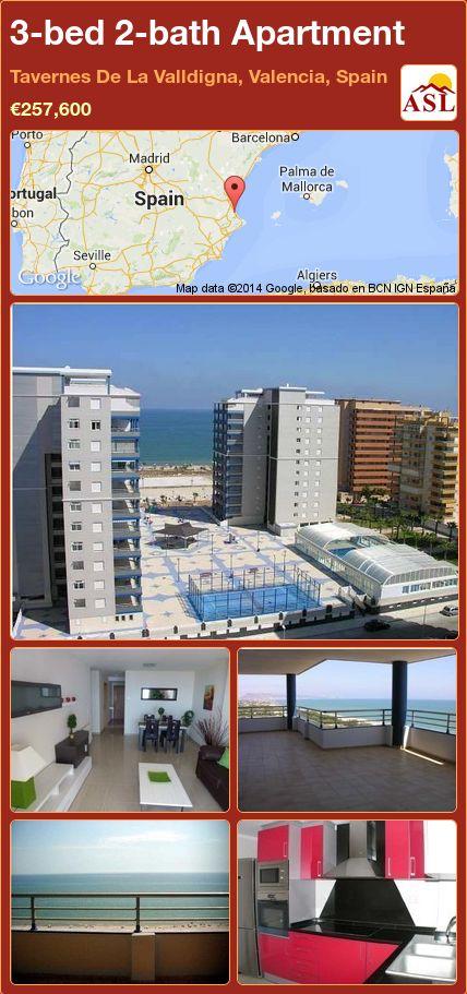 3-bed 2-bath Apartment in Tavernes De La Valldigna, Valencia, Spain ►€257,600 #PropertyForSaleInSpain