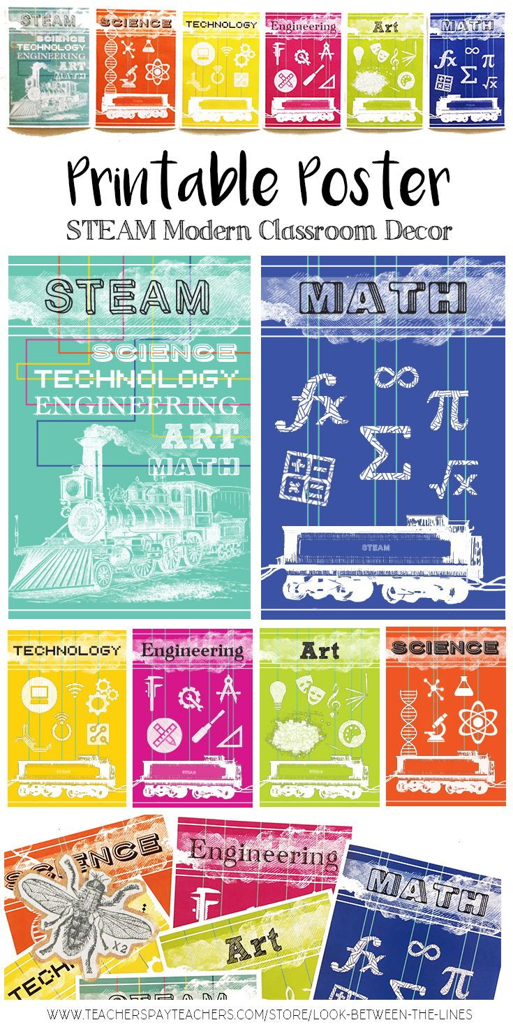image about Printable Technology named STEAM Printable Poster Pack: Science, Know-how