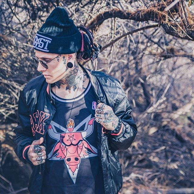 """""""Satanic Bulls"""" Basketball Tank Top & """"BEAST"""" Beanie Available at www.crmc-clothing.co.uk 