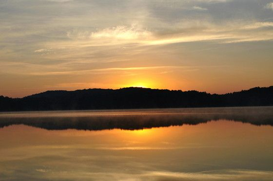 Sunrise on Hudson Lake