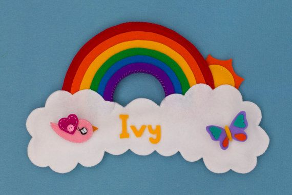 Personalized children's name plaque, door sign from Babes in the Woods. $39