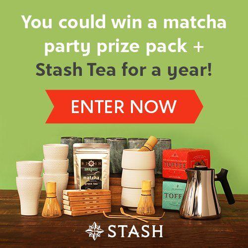 Are you a tea person? You could win a matcha tea party set, plus more Stash Tea prizes!